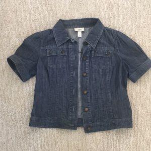 LOFT Denim short-sleeve jacket, Size Small